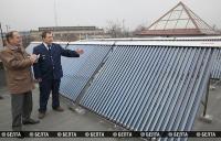 Солнечный коллектор установлен на железнодорожной станции Витебск