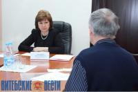 Наталья Кочанова провела прием граждан в Новополцке уже в качестве вице-премьера