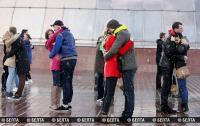Флешмоб, посвященный Марку Шагалу и Беллы Розенфельд, прошел в Витебске