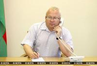 Зампред Витебского облисполкома провел прямую телефонную линию с жителями региона
