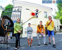 Фигурина Эль Лисицкого украсила стену дома в Витебске