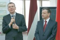 Министр иностранных дел Латвии Эдгарс Ринкевичс и мэр Витебска Виктор Николайкин