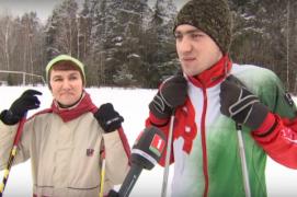 В Лиозненском районе семья обустроила трассу для лыжников (09.01.2019)