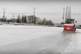 Технику для катков и лыжных трасс испытывают в Витебске (28.01.2019)