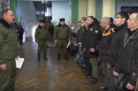 Призыв резервистов в Витебске (05.02.2019)